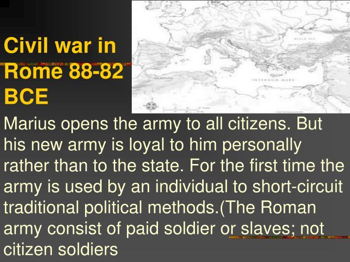 Civil war in Rome 88-82 BCE