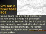 civil war in rome 88 82 bce