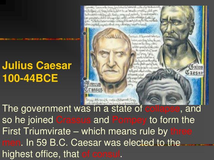 Julius Caesar 100-44BCE