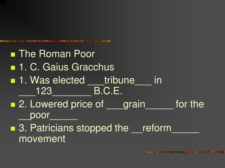 The Roman Poor