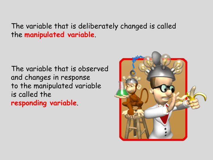The variable that is deliberately changed is called the