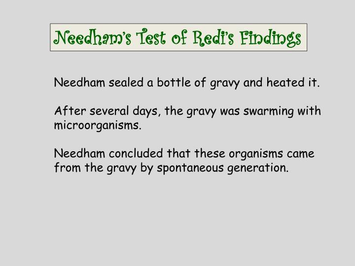 Needham's Test of