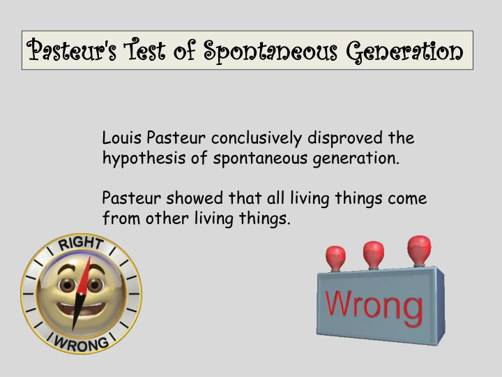 Pasteur's Test of Spontaneous Generation