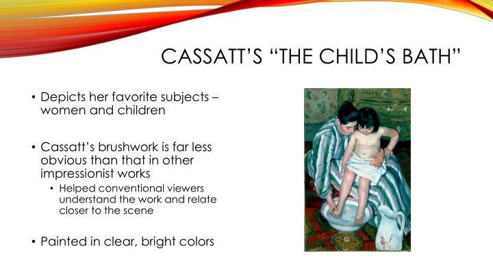 "Cassatt's ""The Child's Bath"""