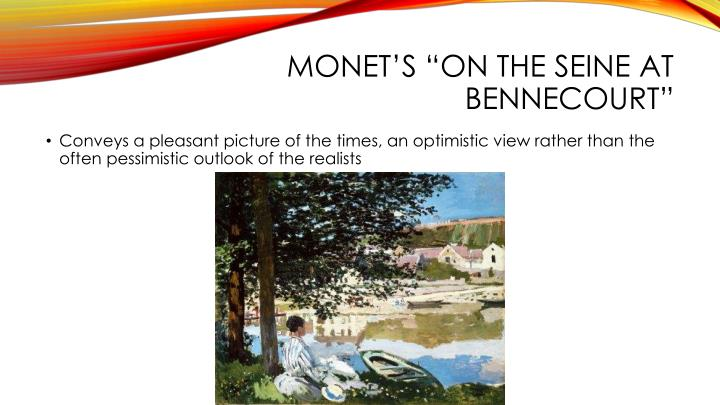 "Monet's ""On the Seine at"
