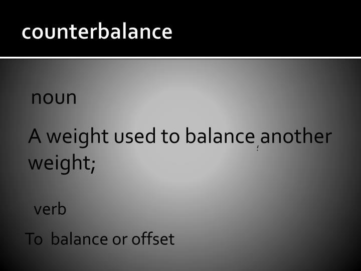 counterbalance