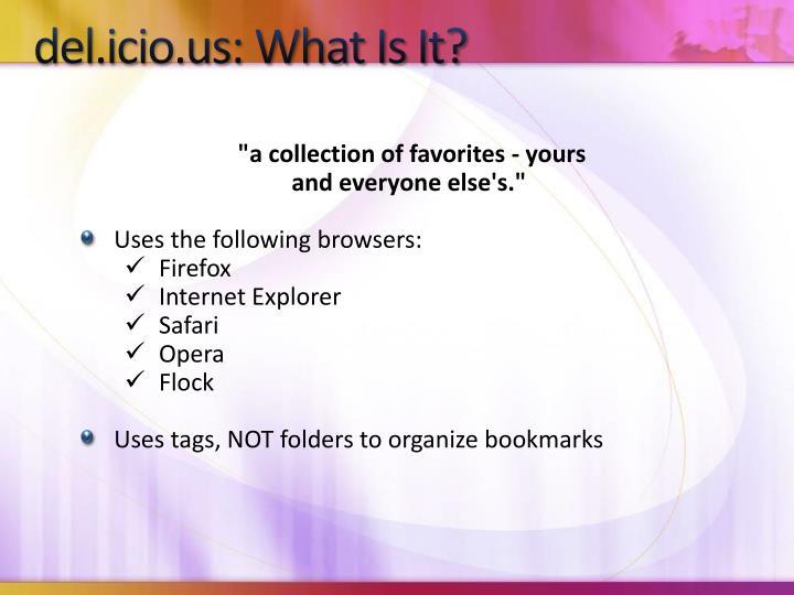 del.icio.us: What Is It?