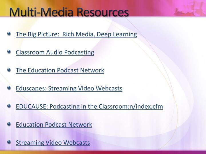 Multi-Media Resources