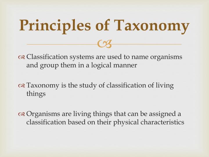 Principles of Taxonomy