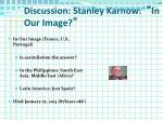 discussion stanley karnow in our image