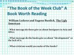 the book of the week club a book worth reading