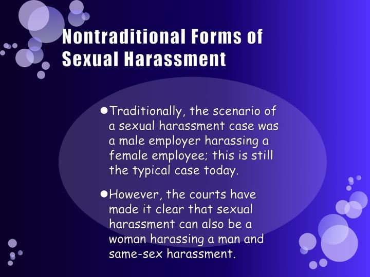Nontraditional Forms of Sexual Harassment