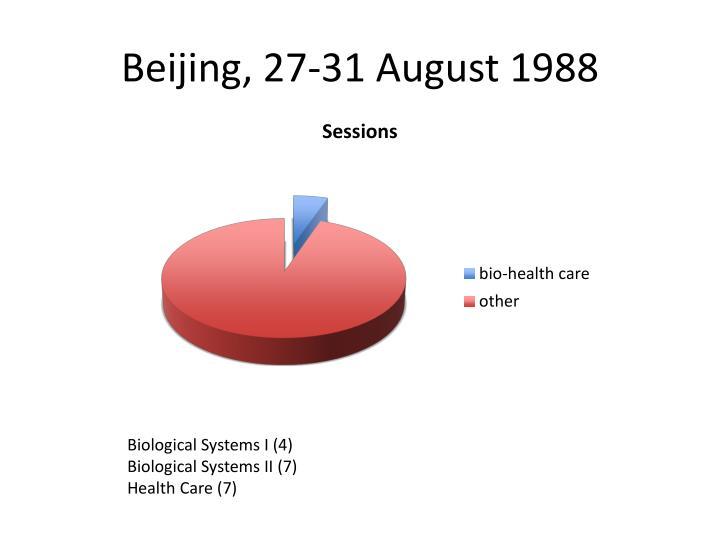 Beijing, 27-31 August 1988