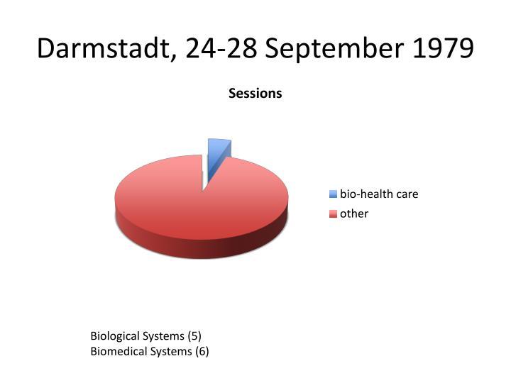 Darmstadt, 24-28 September 1979