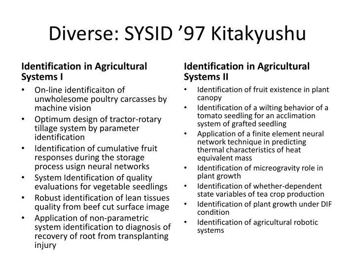 Diverse: SYSID '97 Kitakyushu