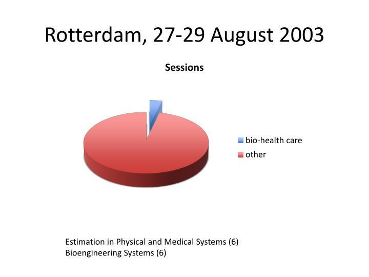 Rotterdam, 27-29 August 2003