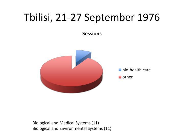 Tbilisi, 21-27 September 1976