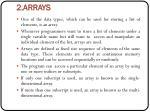 2 arrays