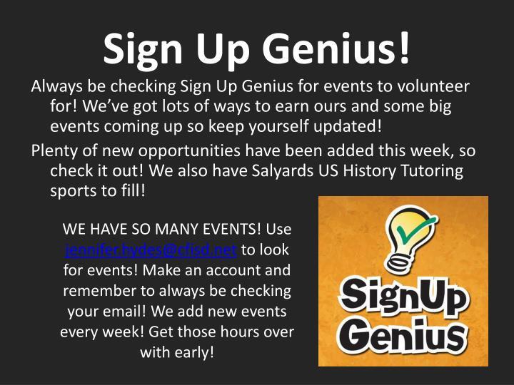 Sign Up Genius!
