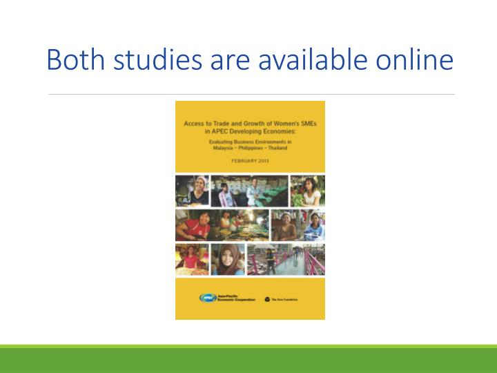 Both studies are available online