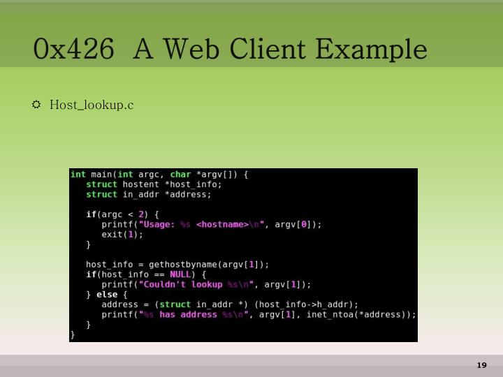 0x426  A Web Client Example