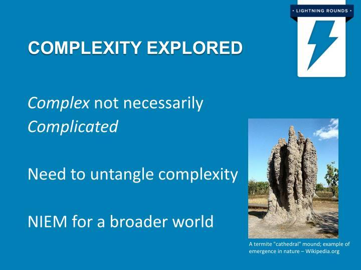 Complexity explored