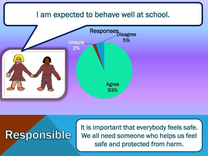 I am expected to behave well at school.