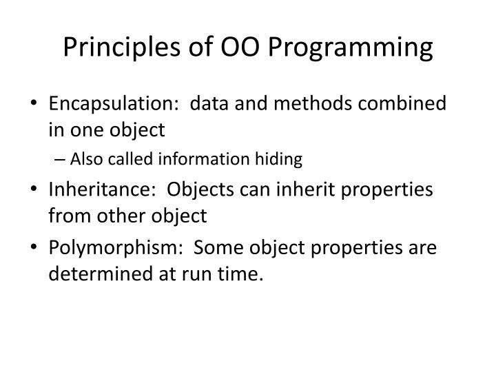 Principles of OO Programming