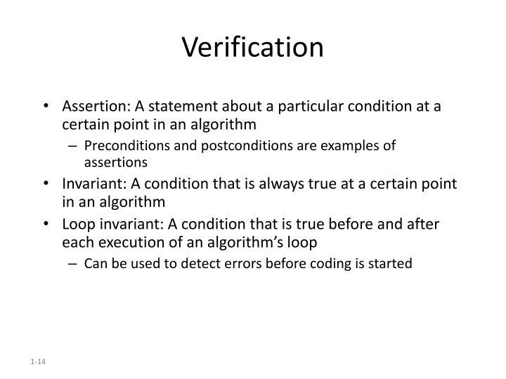 Verification