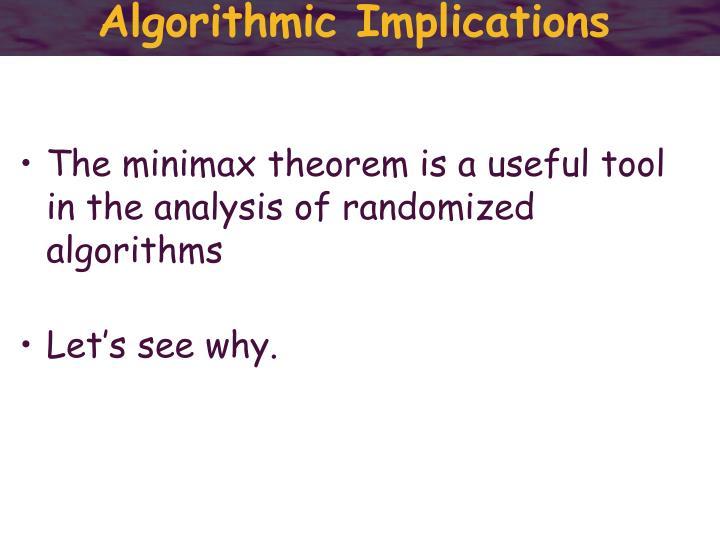Algorithmic Implications