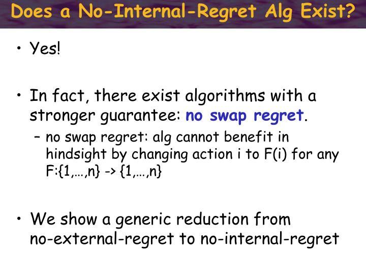 Does a No-Internal-Regret