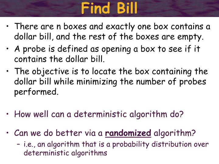 Find Bill