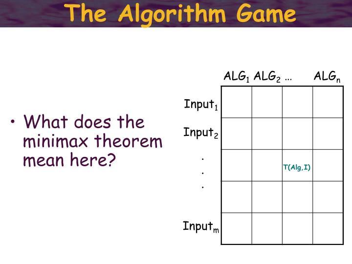 The Algorithm Game
