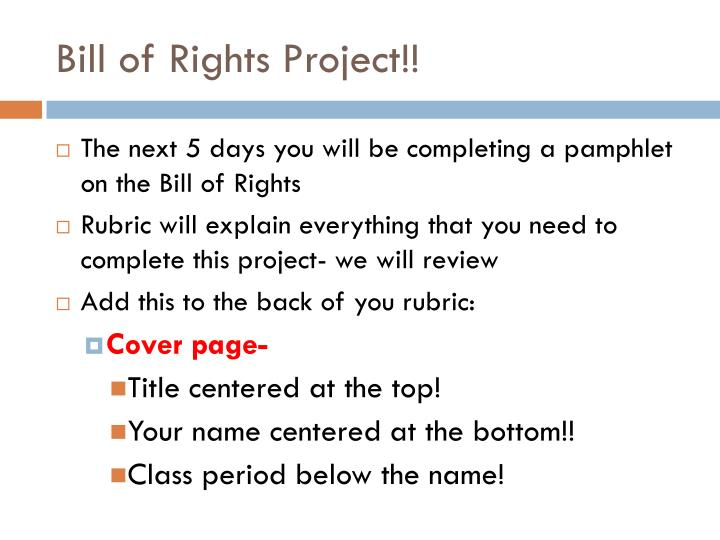 Bill of Rights Project!!