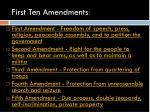 first ten amendments