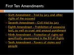 first ten amendments1