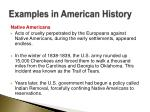 examples in american history2