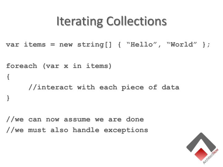 Iterating Collections