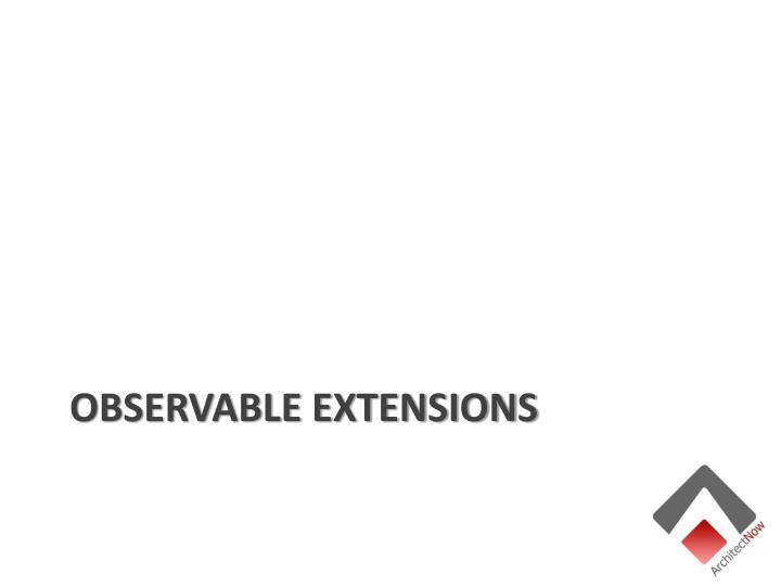 Observable Extensions