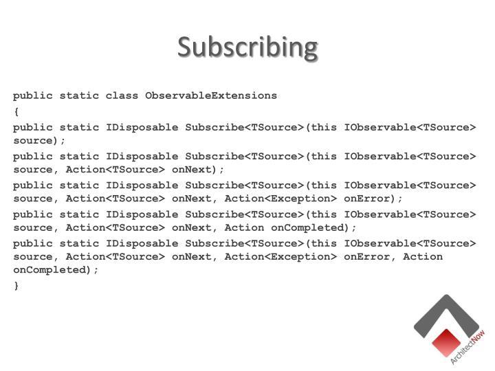 Subscribing