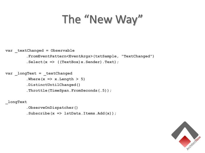 """The """"New Way"""""""