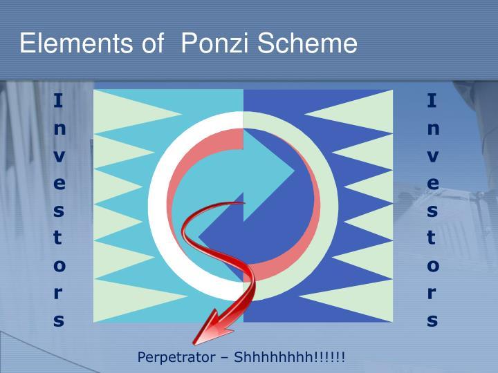 Elements of  Ponzi Scheme