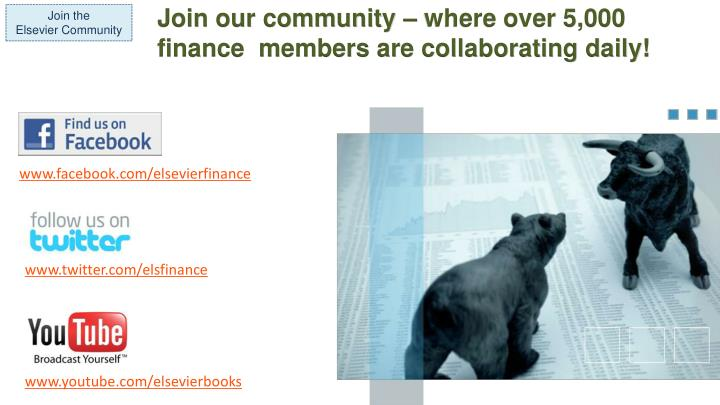 Join our community – where over 5,000 finance  members are collaborating daily!