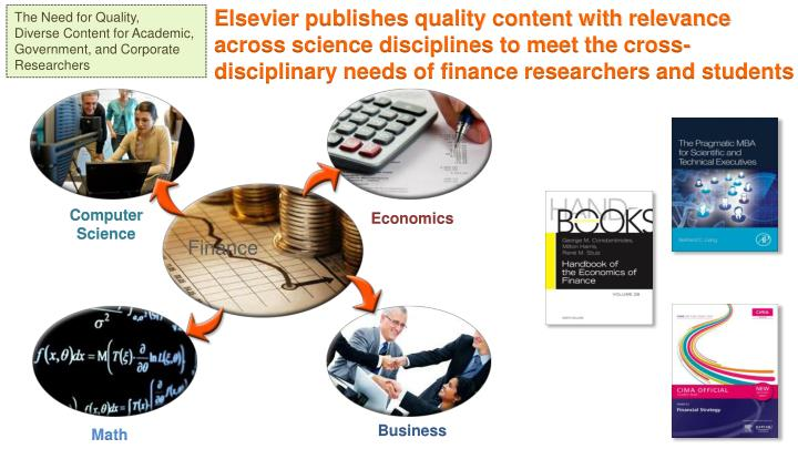 Elsevier publishes quality content with relevance across science disciplines to meet the cross-disciplinary needs of finance researchers and students