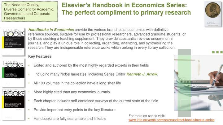 Elsevier's Handbook in Economics Series: