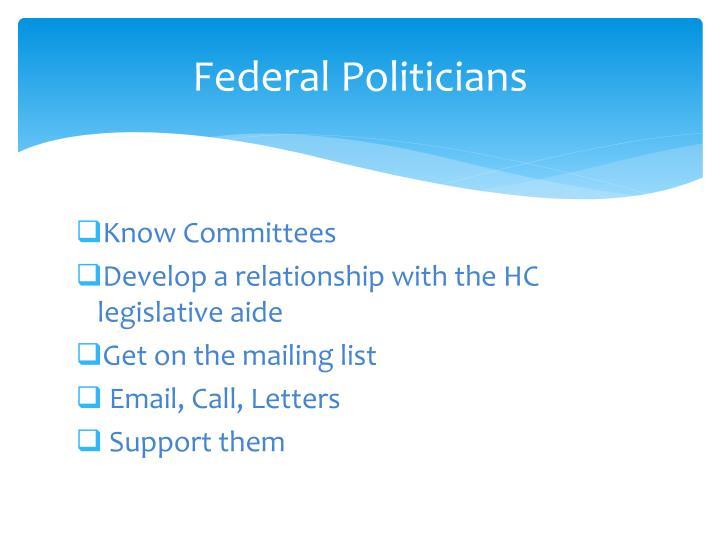 Federal Politicians