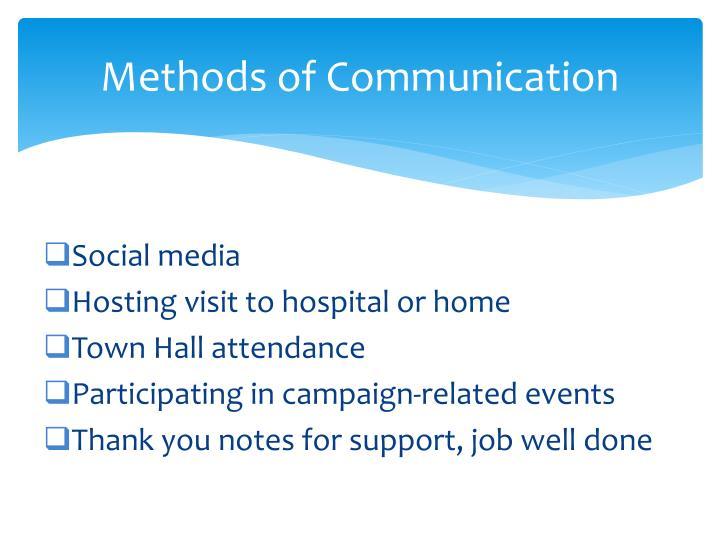 Methods of Communication