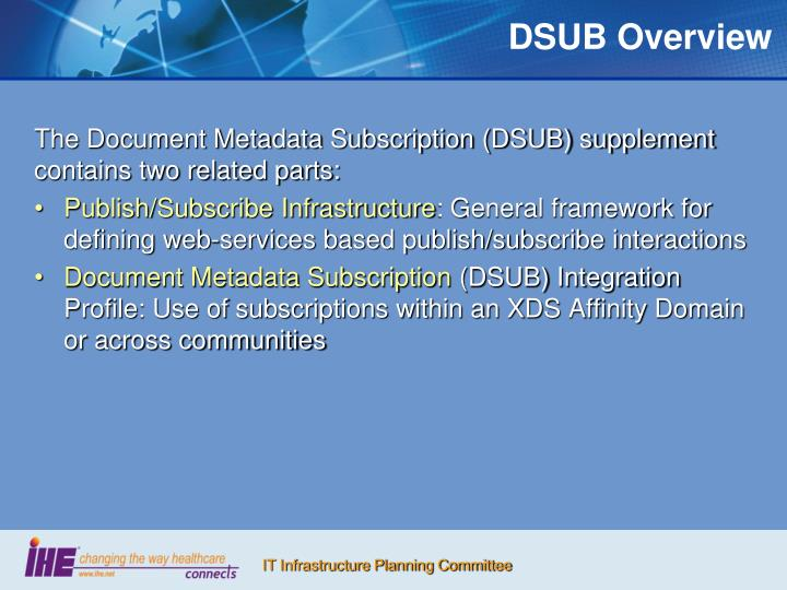 DSUB Overview