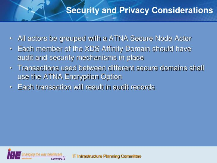 Security and Privacy Considerations