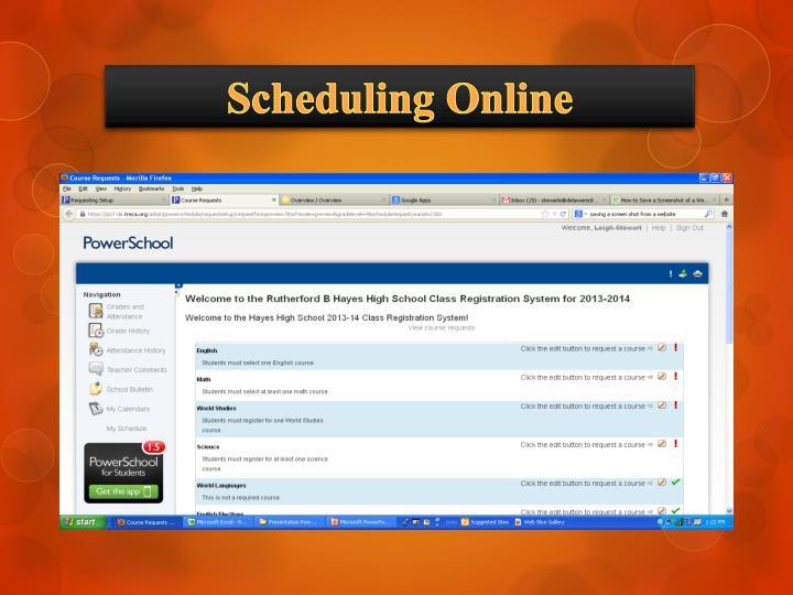 Scheduling Online